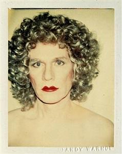 self-portrait (in drag) by andy warhol
