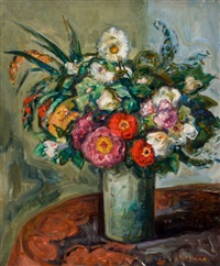 floral still life by louis ritman