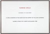 sunrise circle, ecuador by richard long