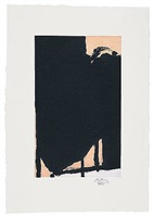 elegy fragment ii (cr360) by robert motherwell