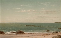 new england beach scene by john william casilear