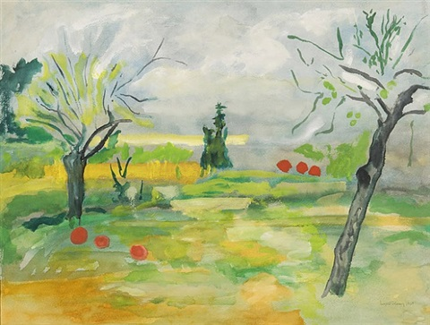 untitled (french landscape) by beauford delaney