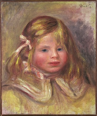 coco au ruban rose by pierre-auguste renoir