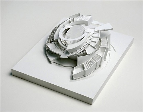 proposal for a sculpture (maquette) by alice aycock