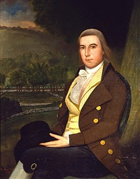 portrait of a gentleman, possibly gabriel verplank ludlow by ralph earl
