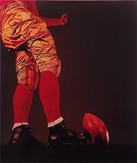 wes fesler's football kick by harold eugene edgerton
