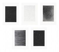 reverse galaxy, falling stars, divided night sky, dark galaxy, web ladder by vija celmins