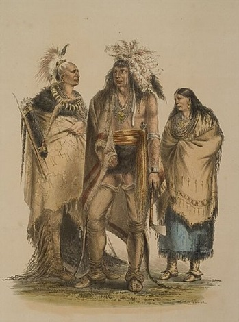 group of north american indians by george catlin