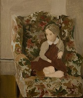 portrait of katherine porter (the artist's daughter) by fairfield porter