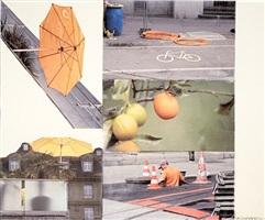 orange float (runts) by robert rauschenberg