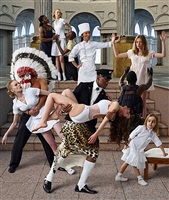 the feast of trimalchio: allegory 4 (abduction of europe) by aes+f group