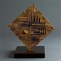 arnaldo pomodoro bronze sculpture titled