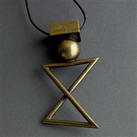 yaacov agam bronze pendant with large 'x' by yaacov agam
