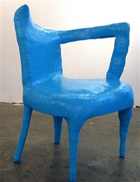 light blue chair by jerry mischak