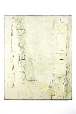 manhattan skyscrapers by lyonel feininger