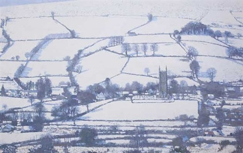 widecombe in the moor, winter by nicholas verrall
