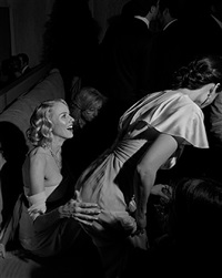 oscar party, naomi watts and lucy liu, los angeles, february, 2007 by larry fink