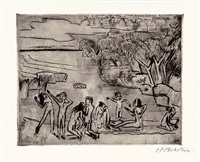 am ufer (at the riverbank) by max pechstein