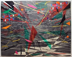 black ground (deep light) by julie mehretu