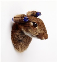 rabbit with curlers by nancy fouts