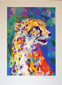portrait of a cheetah by leroy neiman