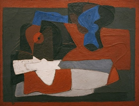 enigma (composition of forms on table) by arshile gorky