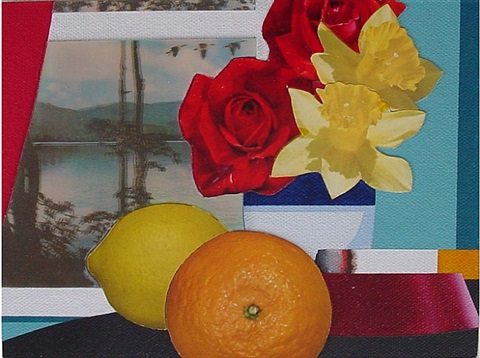 still life collage by tom wesselmann