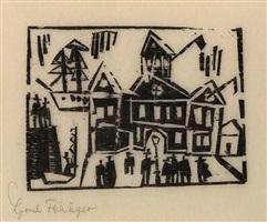 zollhaus (custom-house) by lyonel feininger
