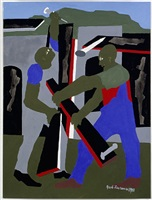 builders - green hills by jacob lawrence