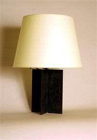lampe cruciforme en fer patiné noir by jean-michel frank