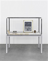 vitrine with several objects by joseph beuys