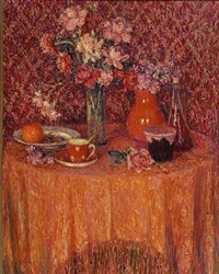 la table. harmonie rouge by henri le sidaner