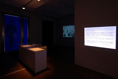 exhibition view by yves klein