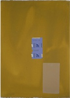 in ochre with gauloises by robert motherwell
