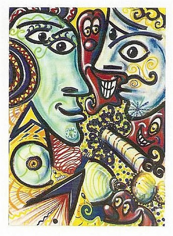picasso by kenny scharf