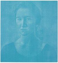 silvia blau in blau by franz gertsch