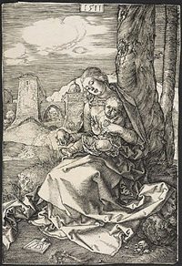madonna with the pear by albrecht dürer