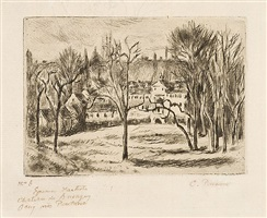 chateau de busagny, à osny by camille pissarro