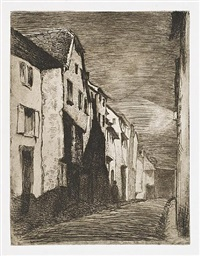 street at saverne by james abbott mcneill whistler