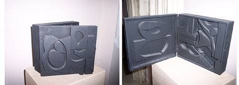 black cryptic x by louise nevelson