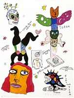 untitled (totem, upside down nana, le temoin) by niki de saint phalle
