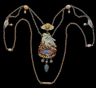 the phoenix: a superb arts and crafts necklace by james cromar watt