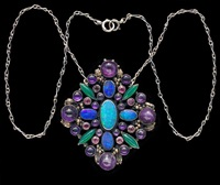 impressive arts and crafts pendant by dorrie nossiter