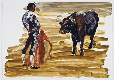 corrida in ronda #9 by eric fischl