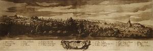 vue panoramique de rome prise depuis la porta del popolo by jacob van der ulft
