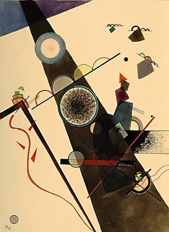 brauner strahl (brown ray) by wassily kandinsky