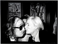 andy warhol kissing salvador dali by christopher makos