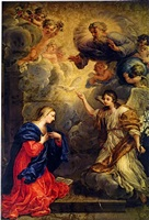 the annunciation by johann paul schor
