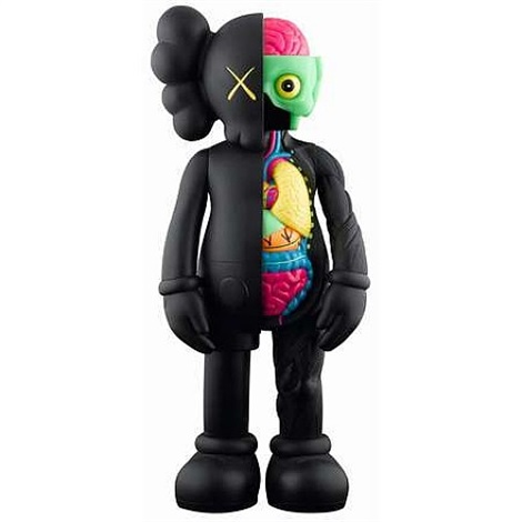 dissected companion black by kaws