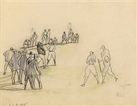 base ball game by jules pascin